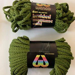 Yarn- Wenco Braided Macrame Cord Lot Of 2 NEW